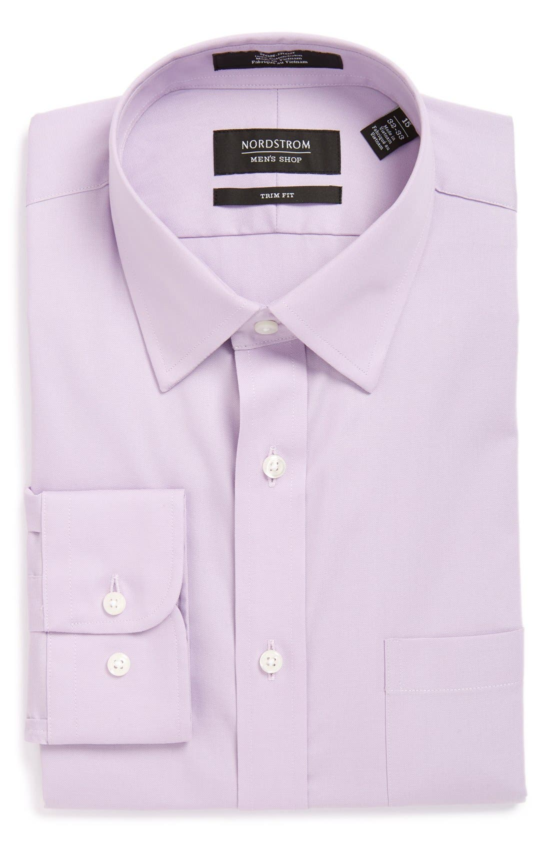 Nordstrom Men's Shop Trim Fit Non-Iron Solid Dress Shirt