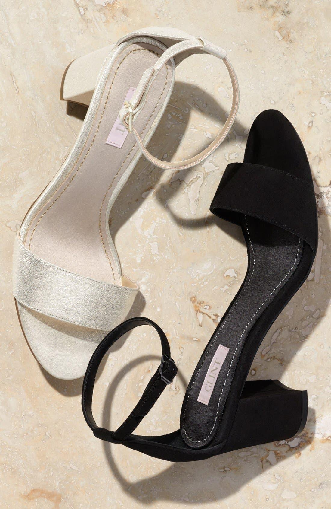 'Lana' Block Heel Ankle Strap Sandal,                             Alternate thumbnail 5, color,