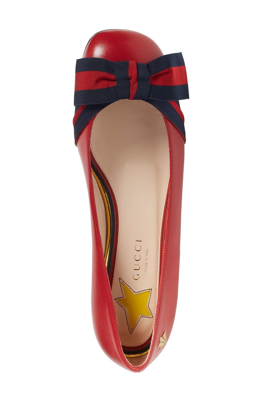 Alternate Image 3  - Gucci 'Aline' Bow Ballet Flat (Women)