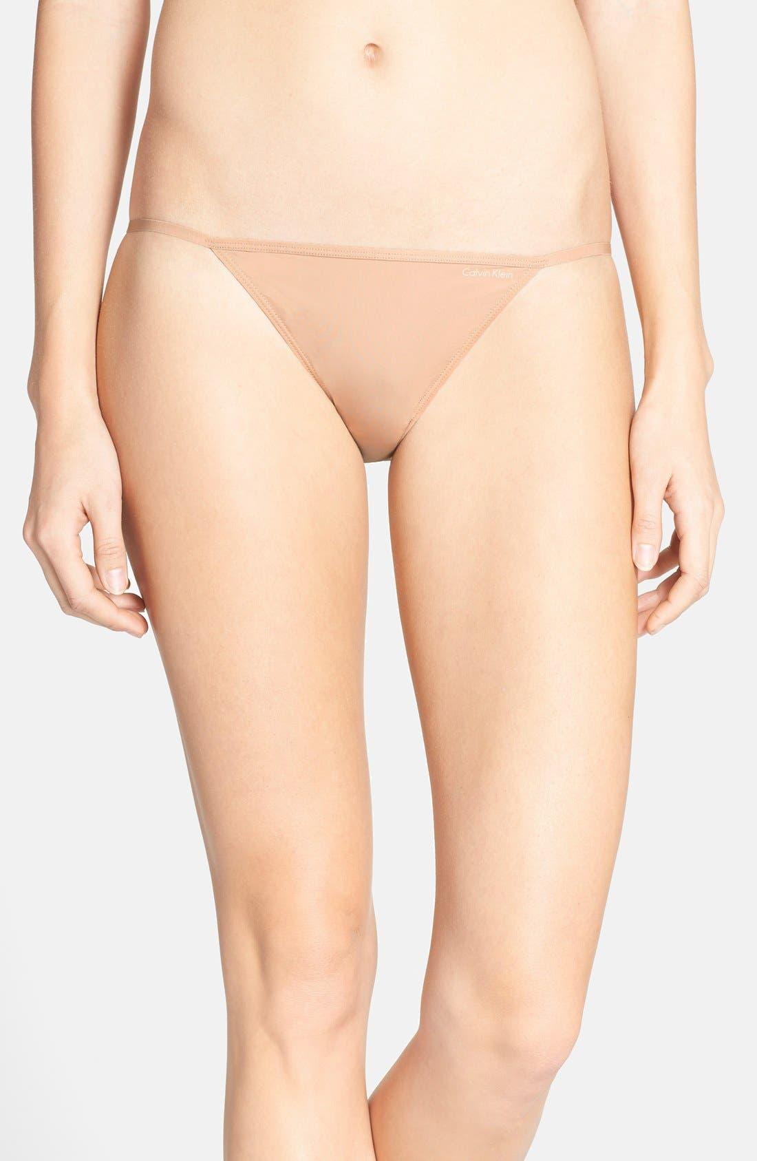 Alternate Image 1 Selected - Calvin Klein Sleek String Bikini