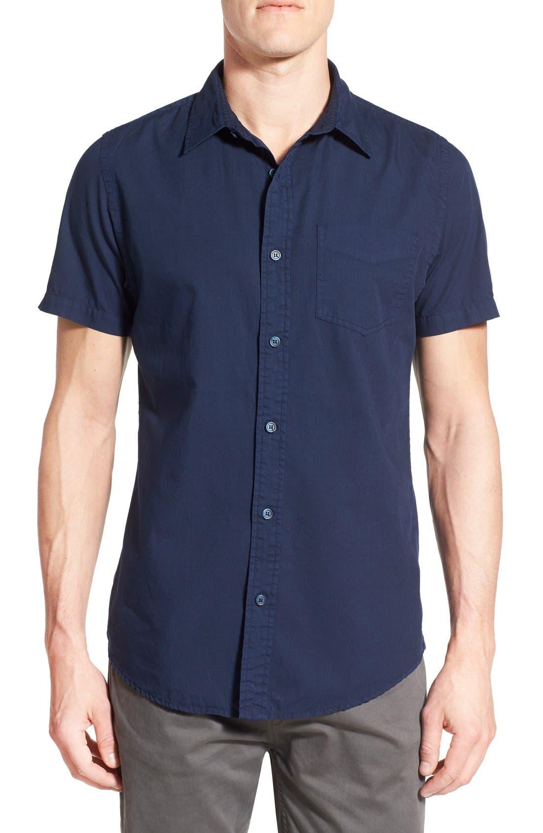 'Torino' Short Sleeve Woven Shirt,                         Main,                         color, Navy