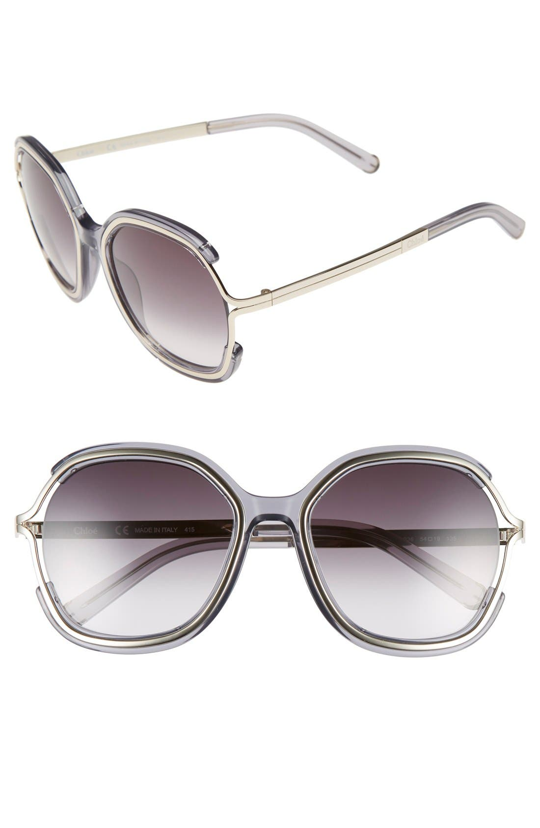 CHLOÉ Jayme 54mm Square Sunglasses
