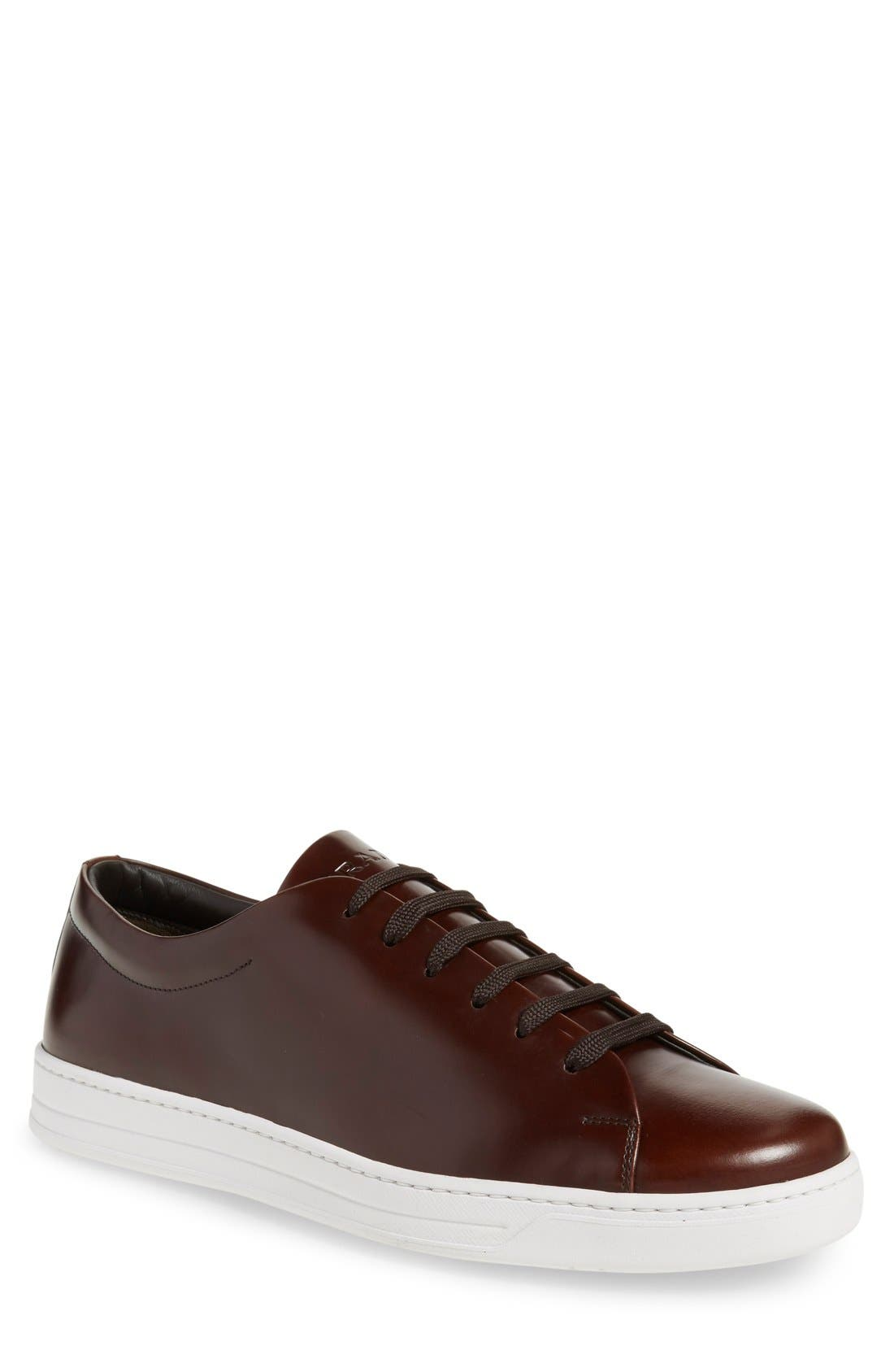 Low Top Sneaker,                         Main,                         color, Bruciato Leather