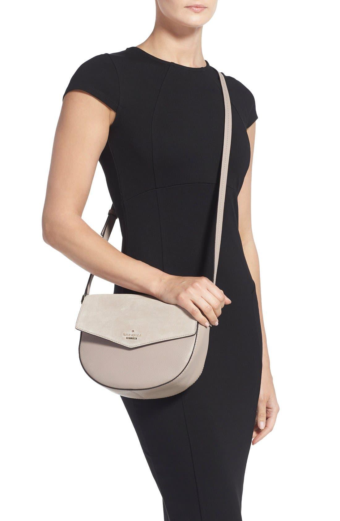 Alternate Image 2  - kate spade new york 'spencer court - lavinia' leather & suede crossbody bag