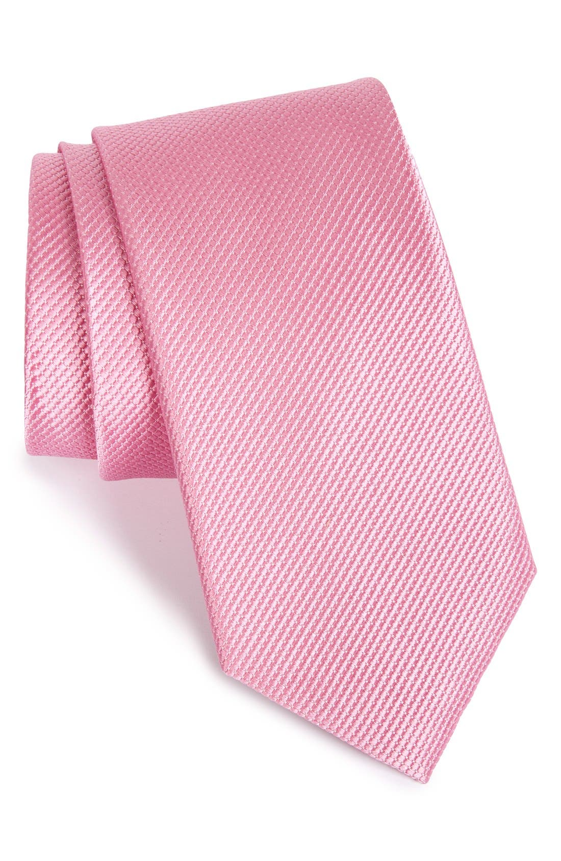 NORDSTROM MENS SHOP Solid Silk Tie
