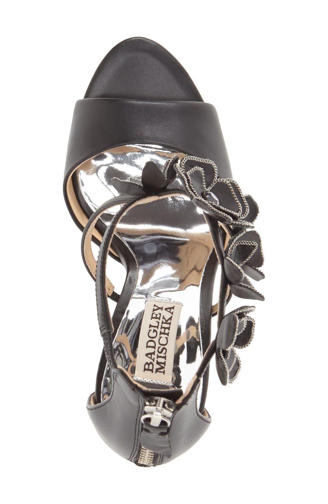 Alternate Image 3  - Badgley Mischka 'Langley' Floral Appliqué Sandal (Women)