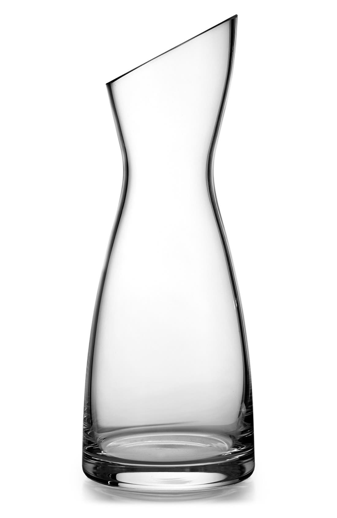 'Skye Collection' Glass Carafe,                             Main thumbnail 1, color,                             Clear