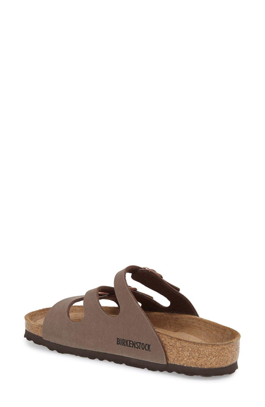 Alternate Image 2  - Birkenstock 'Florida Birkibuc' Soft Footbed Sandal (Women)