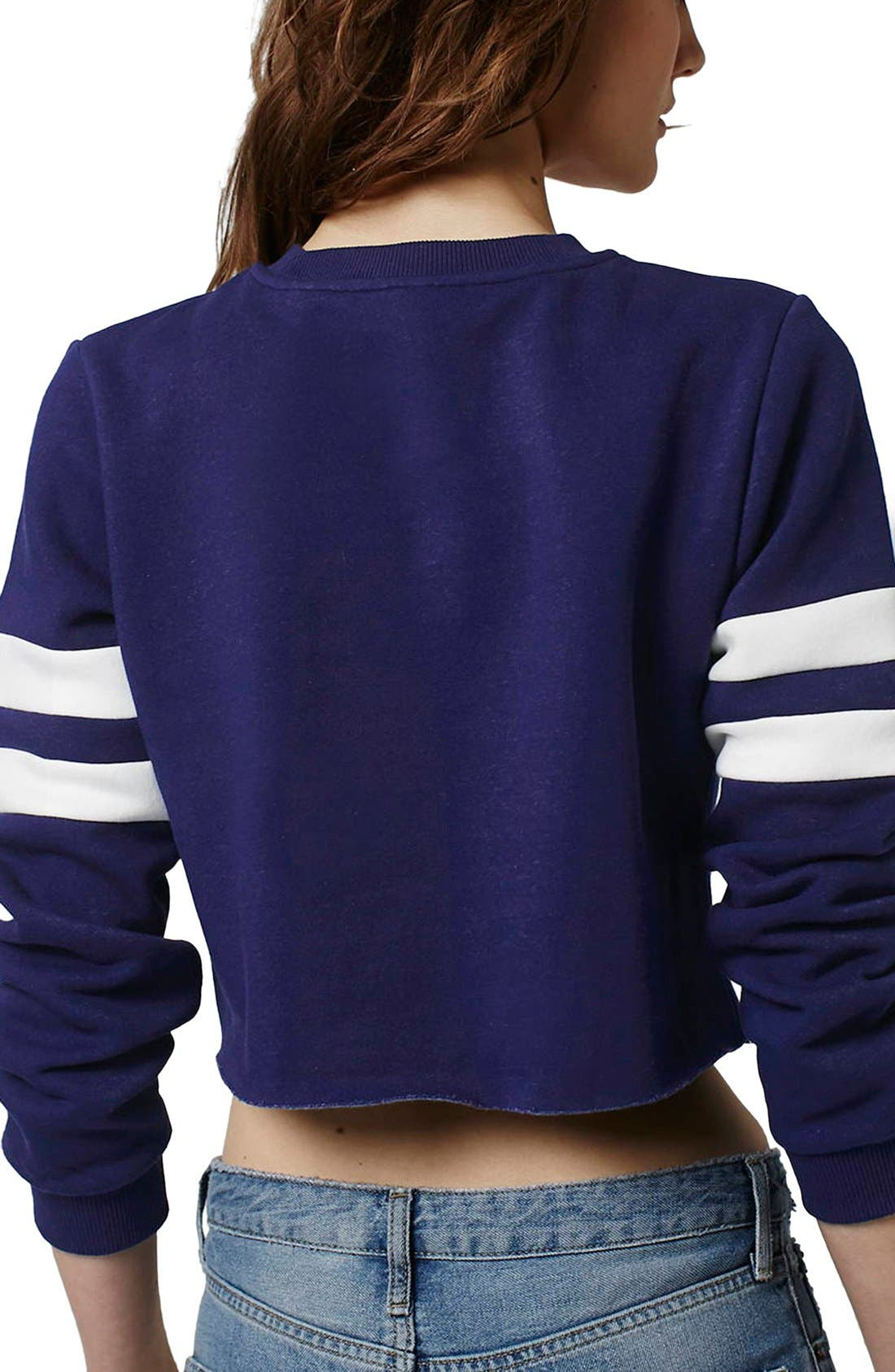 Alternate Image 3  - Topshop 'Lincoln Phys Ed' Crop Sweatshirt