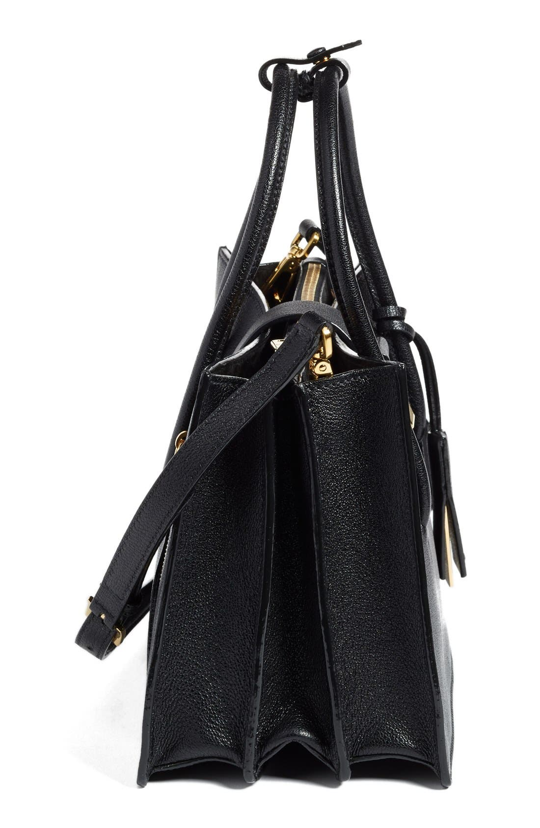 Alternate Image 5  - Miu Miu 'Small Madras' Goatskin Leather Satchel