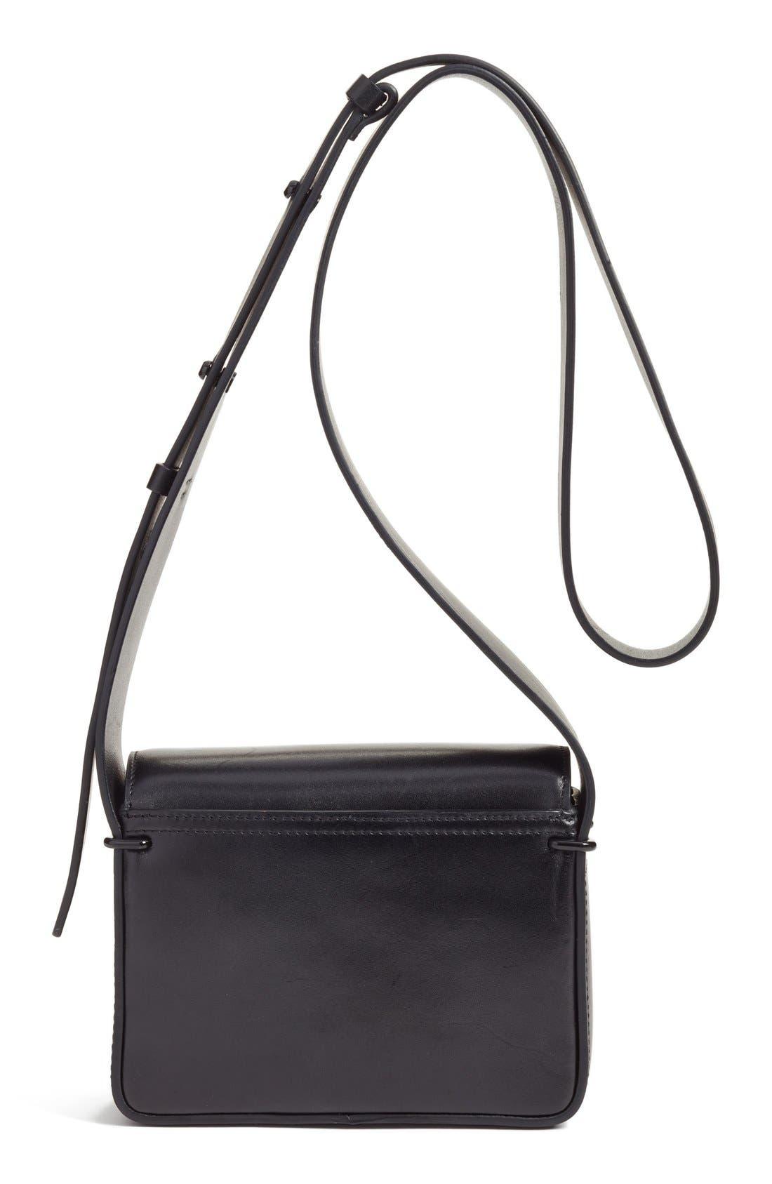 'Mini Alix' Leather Shoulder Bag,                             Alternate thumbnail 2, color,                             Black