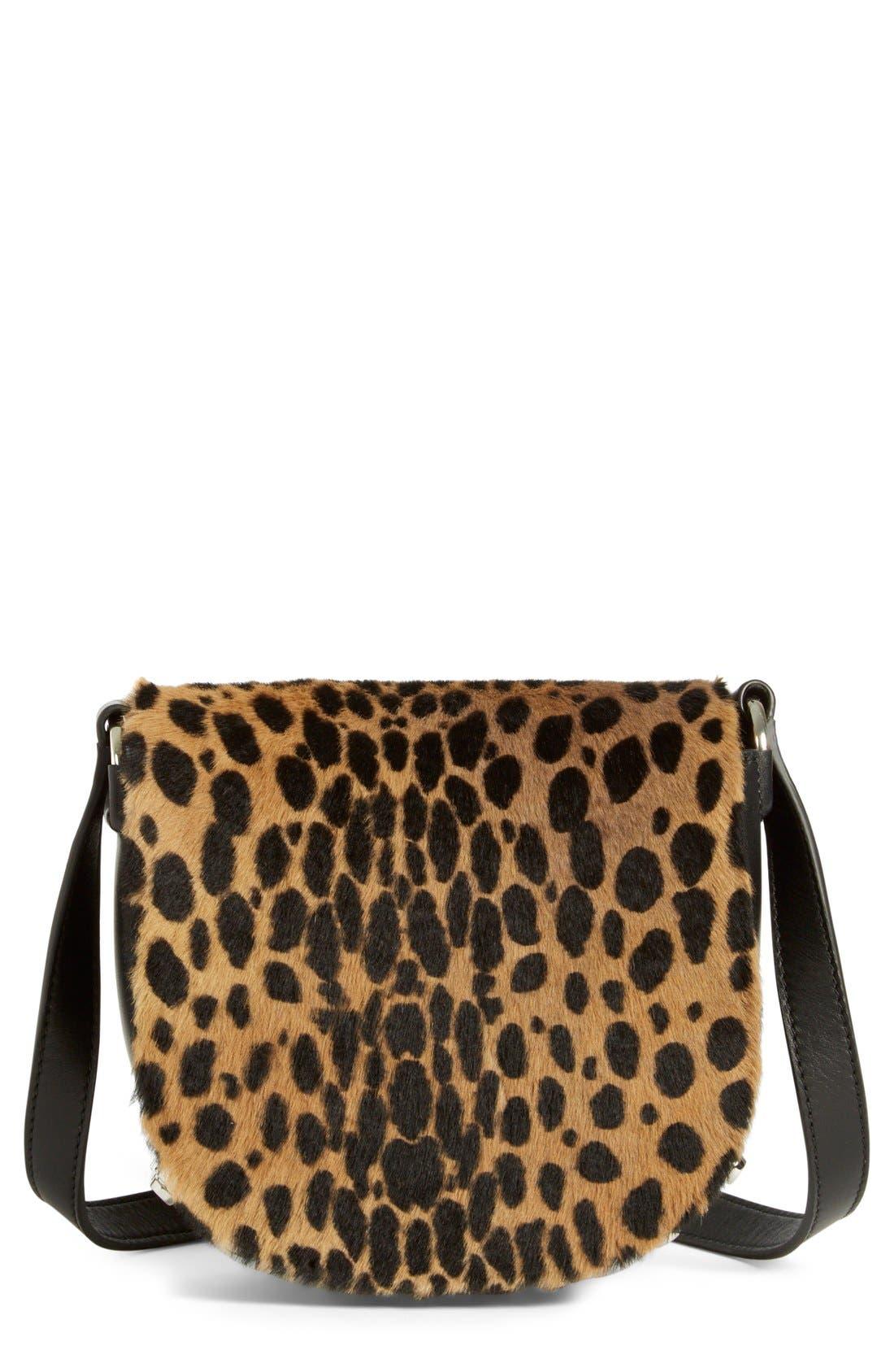 Alternate Image 1 Selected - Alexander Wang 'Mini Lia' Cheetah Print Genuine Kangaroo Fur Crossbody Bag