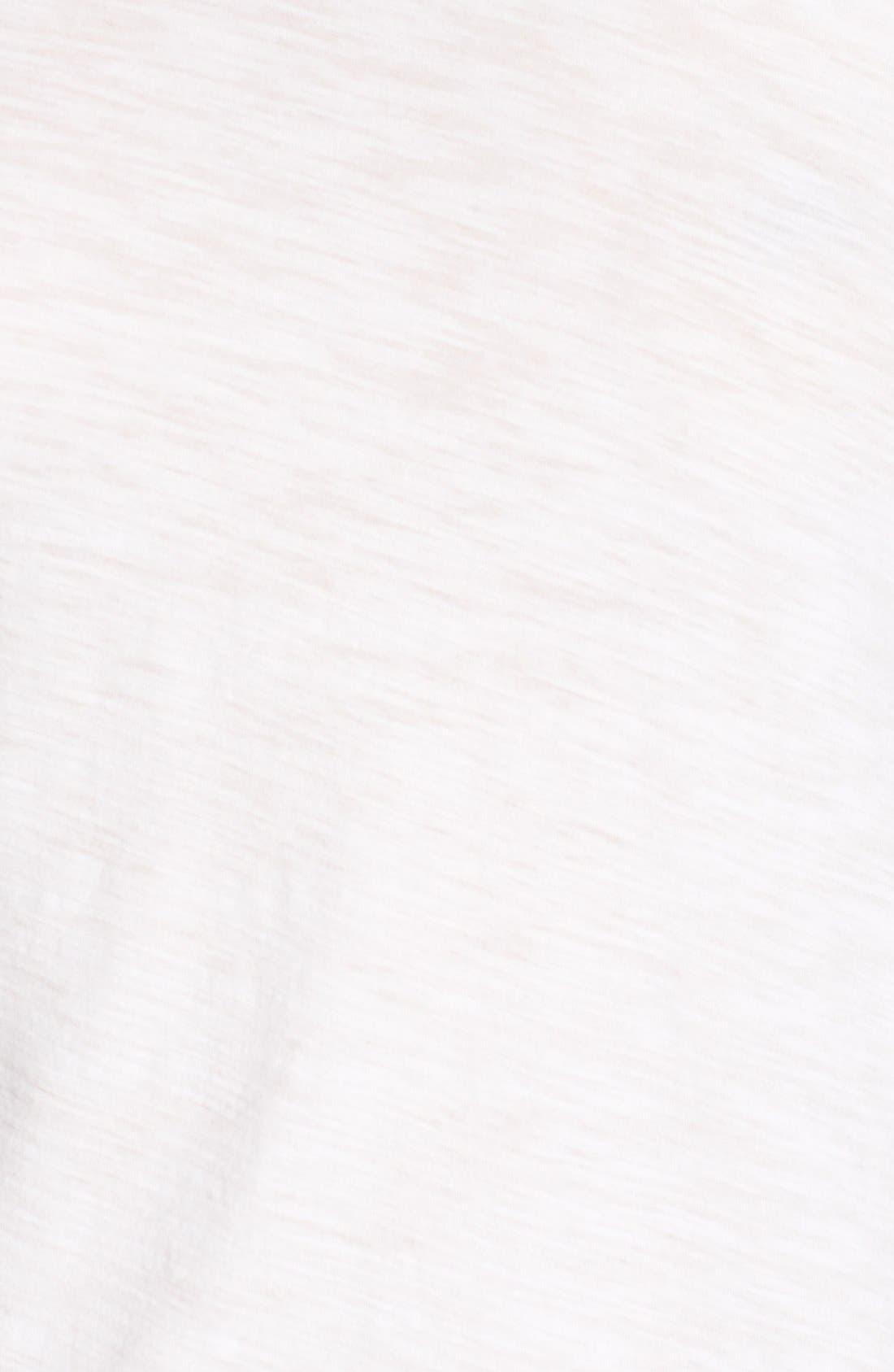 Sheer Slub Crewneck Tee,                             Alternate thumbnail 6, color,                             White