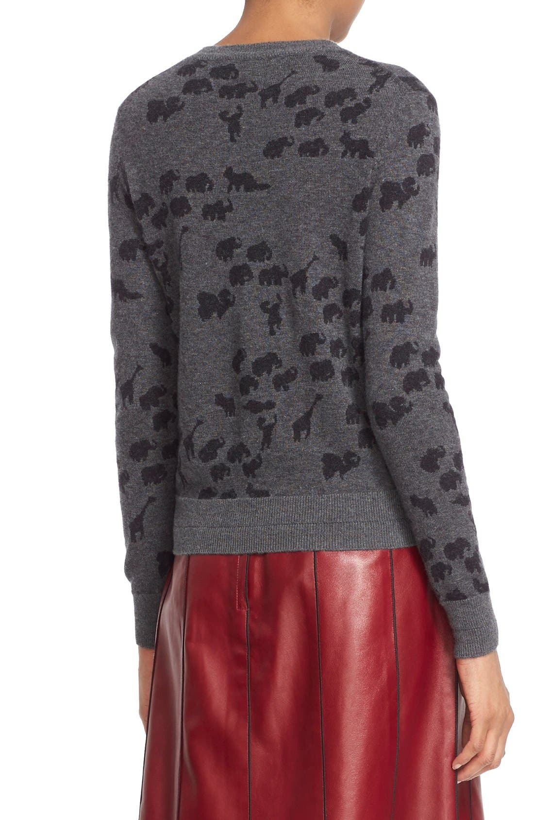 Alternate Image 2  - MARC JACOBS Animal Jacquard Cashmere Sweater