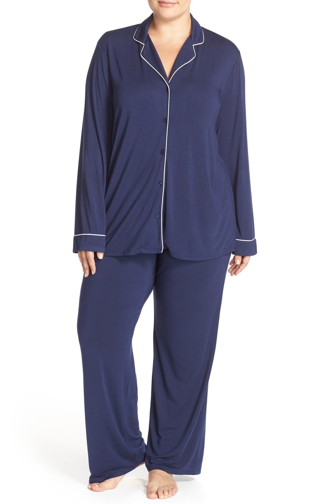 'Moonlight' Pajamas,                             Main thumbnail 1, color,                             Navy Peacoat