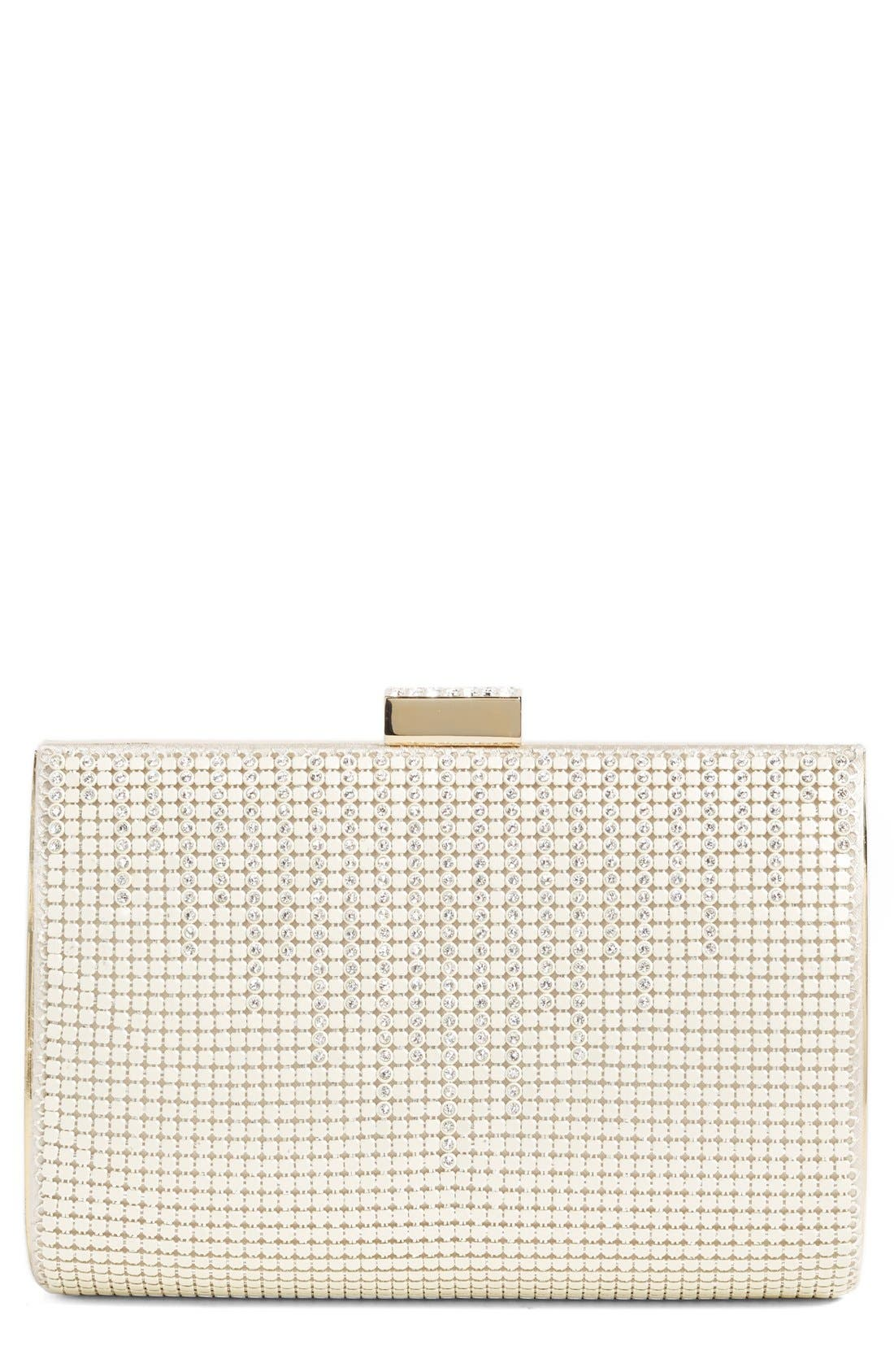 'DIAMOND DRIPS' EVENING CLUTCH - IVORY