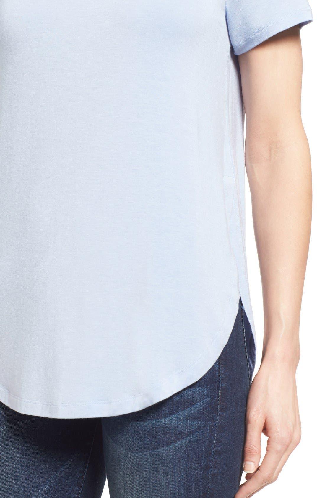 Alternate Image 4  - Halogen® Short Sleeve Shirttail Tee (Regular & Petite)