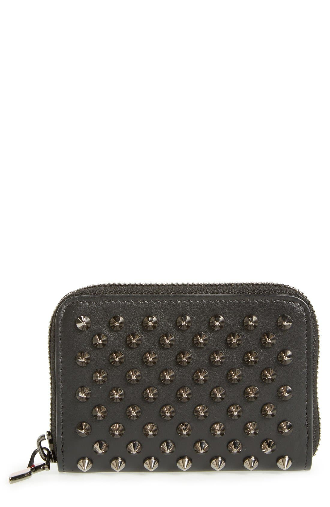 Christian Louboutin 'Panettone' Zip Around Calfskin Leather Wallet
