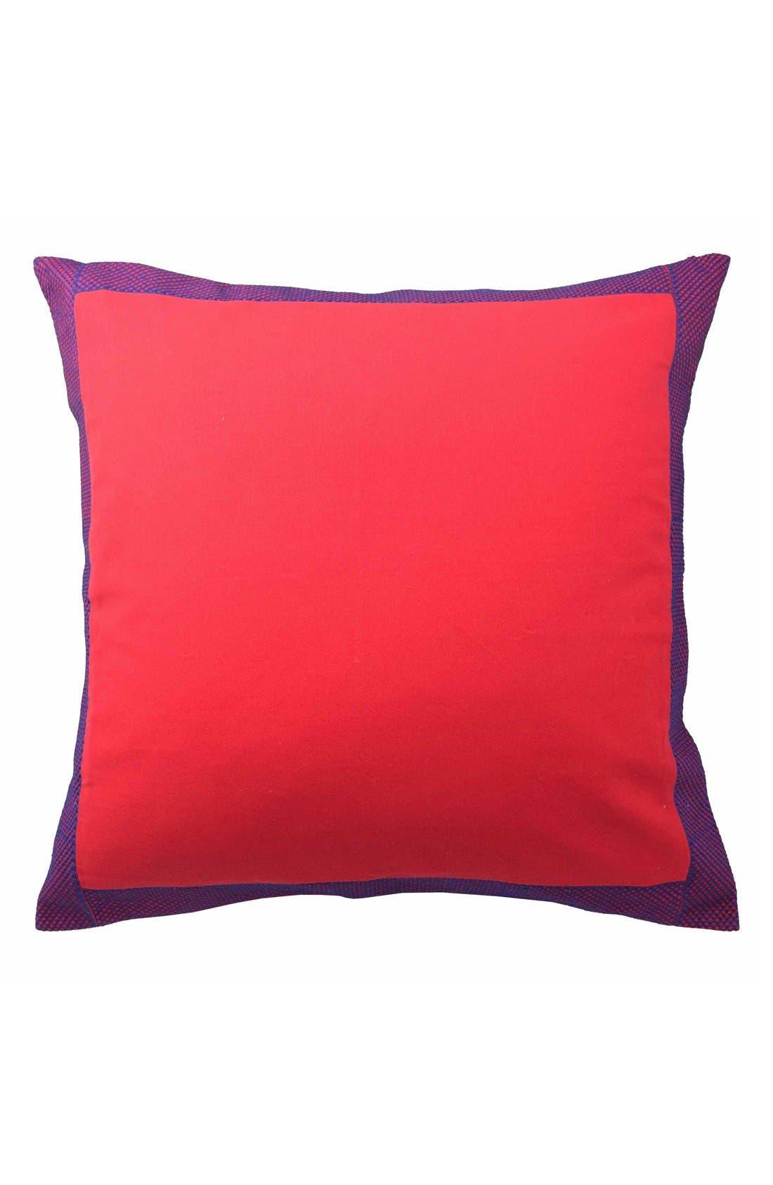 'Tanzania Kira' Euro Sham,                             Main thumbnail 1, color,                             Red