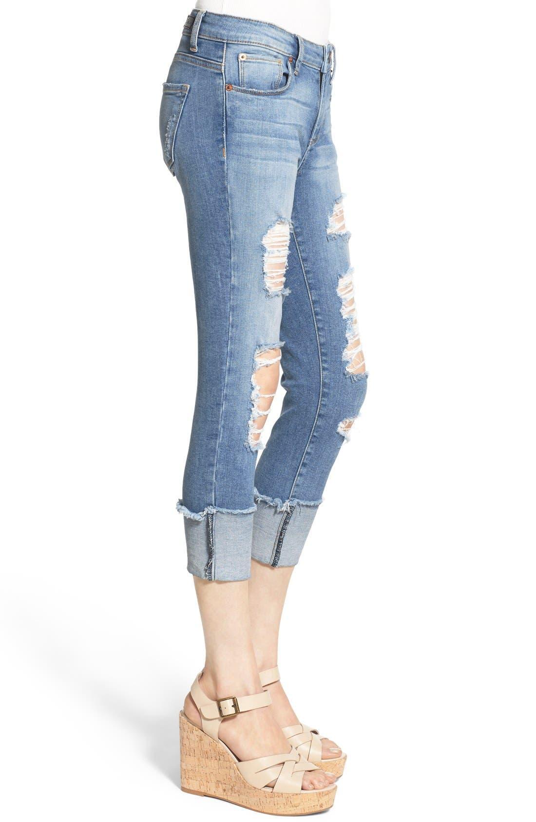 Alternate Image 4  - STS Blue Destroyed Crop Skinny Jeans (Topanga)