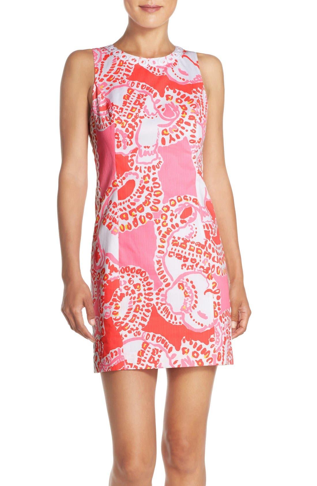 Main Image - Lilly Pulitzer® 'Mila' Print Cotton Shift Dress