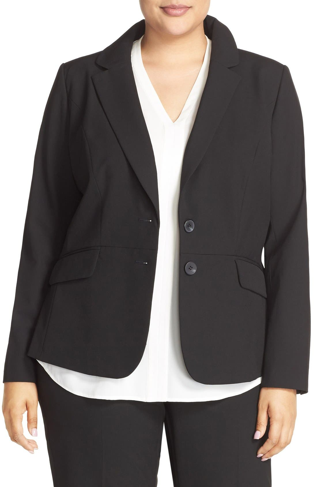 Sejour 'Ela Two-Button Stretch Suit Jacket (Plus Size & Petite Plus)