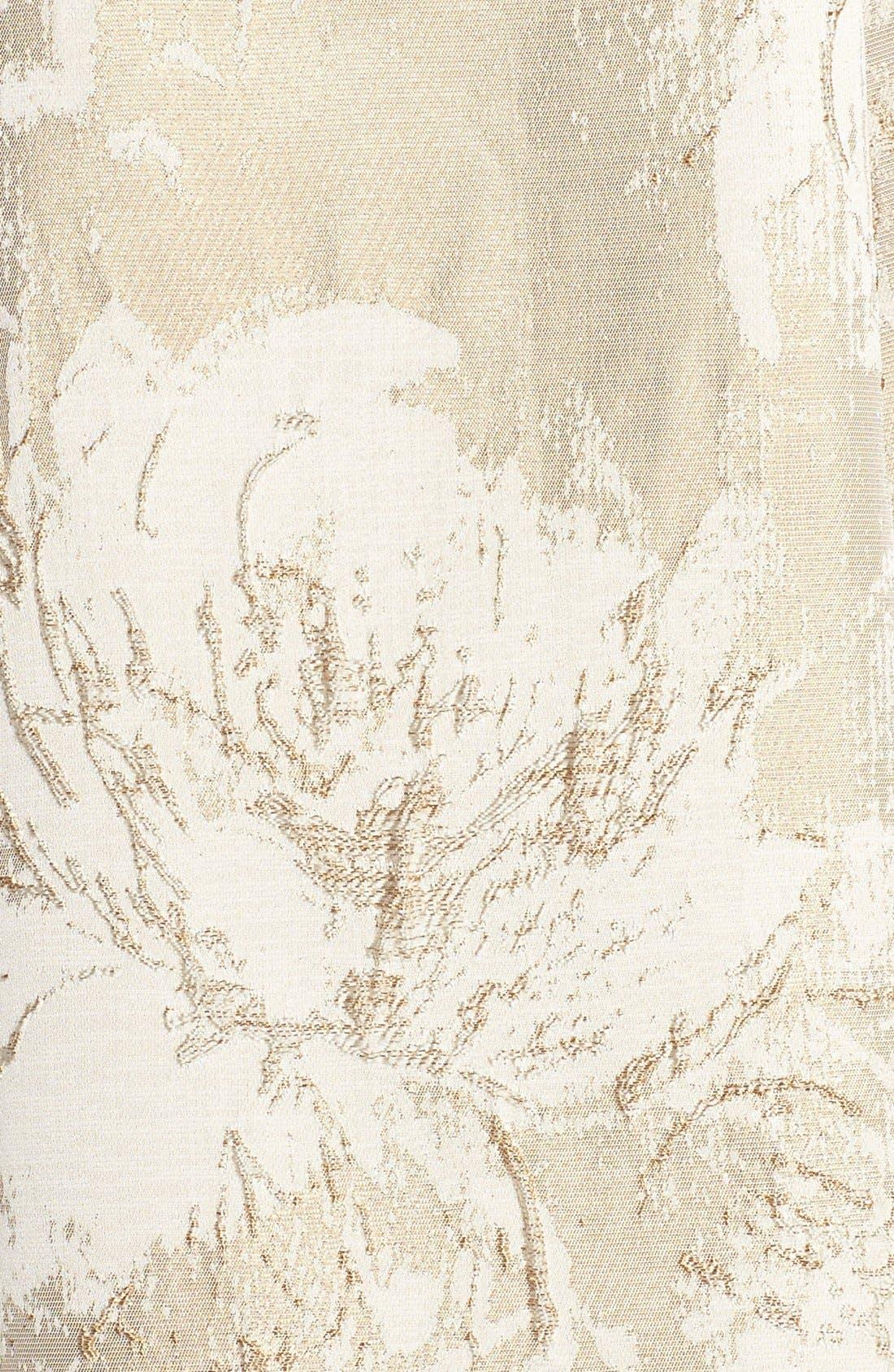 Alternate Image 5  - Aidan Mattox Floral Metallic Jacquard Fit & Flare Dress