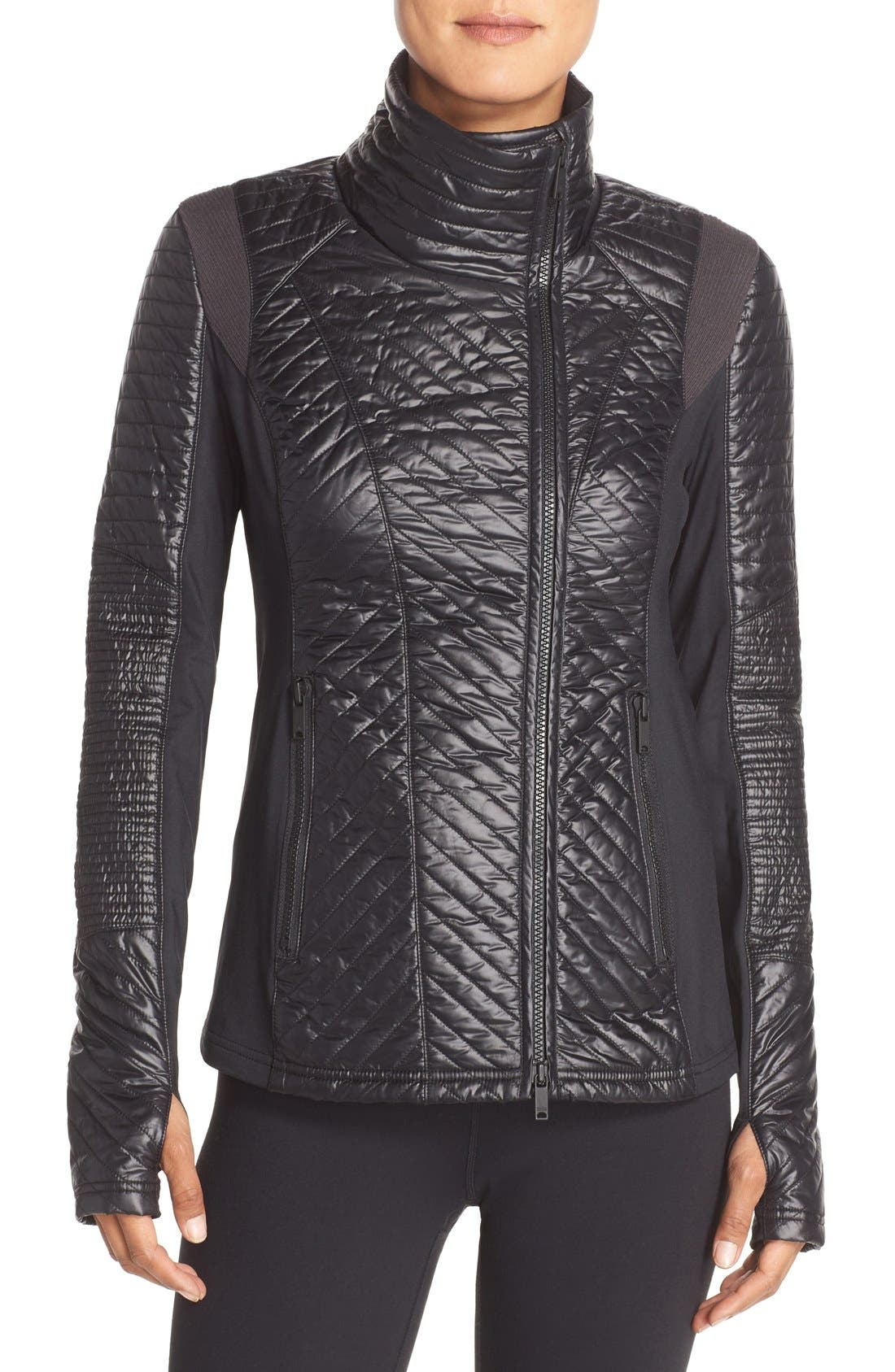 Main Image - Zella Double Breasted Quilted Jacket