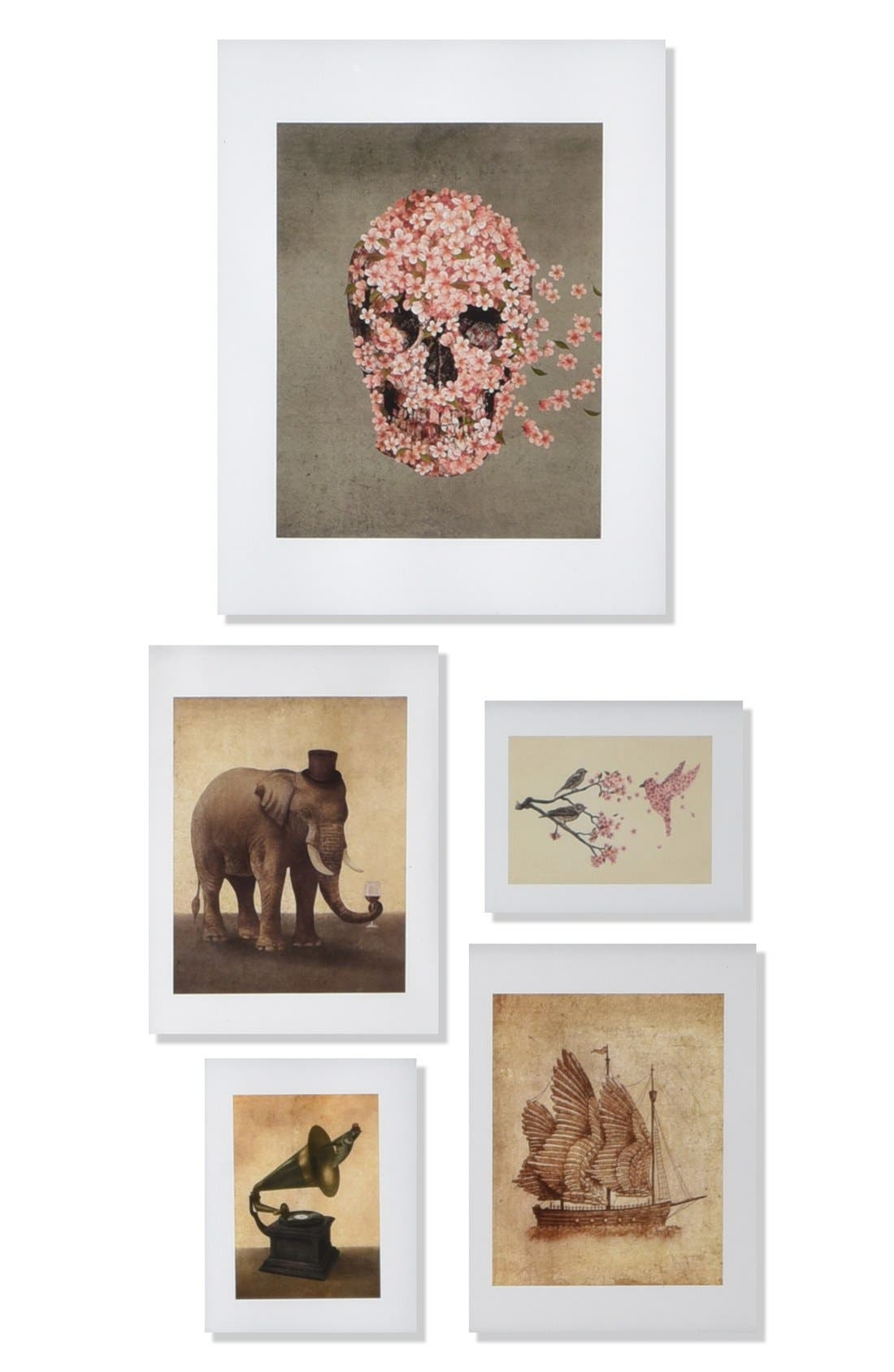 Main Image - Deny Designs 'Terry Fan' Wall Art Gallery (Set of 5)