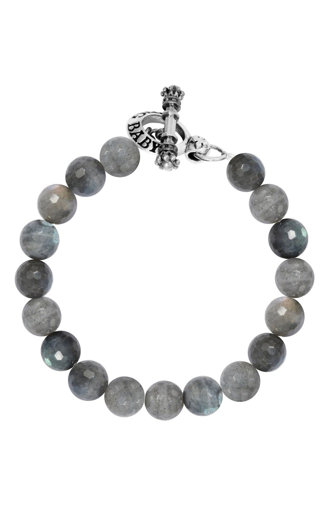 Labradorite Bead Bracelet,                         Main,                         color, Silver