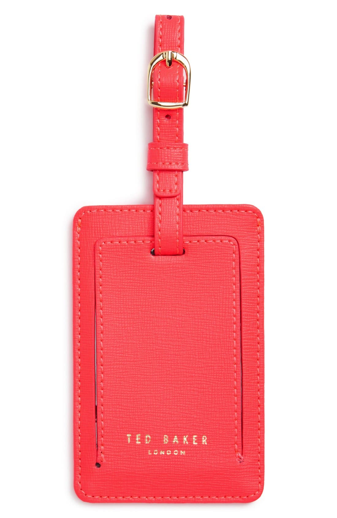 Alternate Image 1 Selected - Ted Baker London Leather Luggage Tag