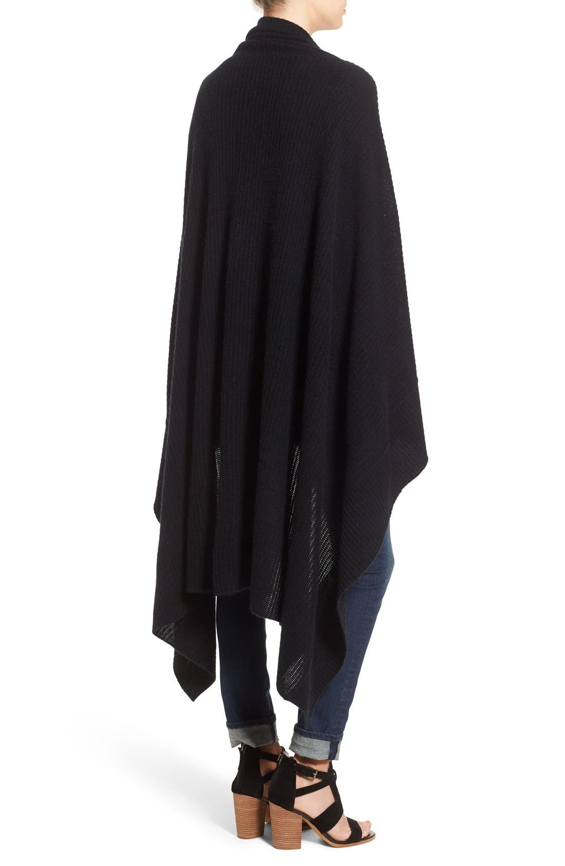 Alternate Image 2  - Halogen® Rib Knit Cashmere Wrap