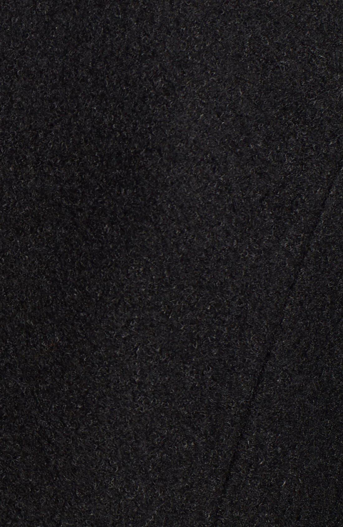 Notch Lapel Peplum Coat,                             Alternate thumbnail 6, color,                             Black