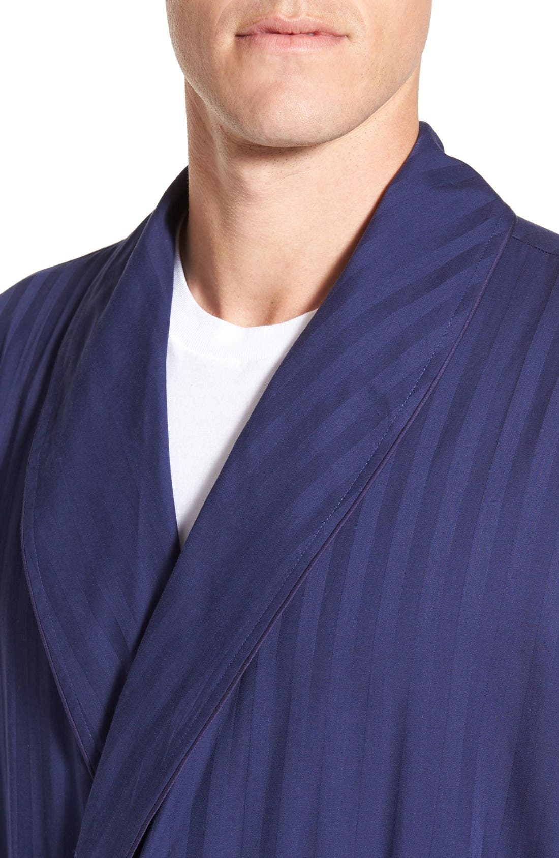 'Get the Blues' Terry Lined Robe,                             Alternate thumbnail 4, color,                             Blue