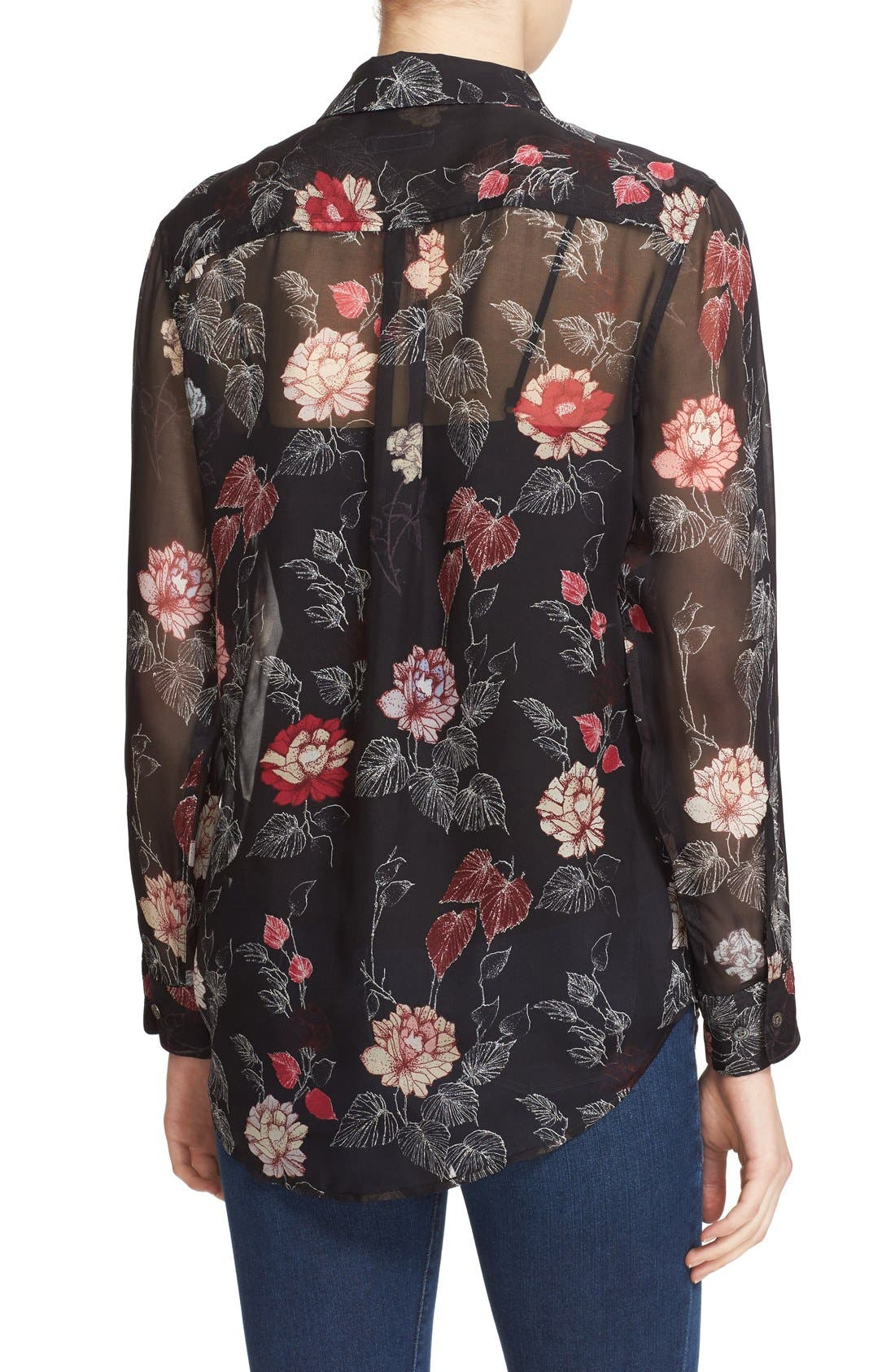 Alternate Image 2  - Equipment 'Signature' Floral Print Silk Shirt