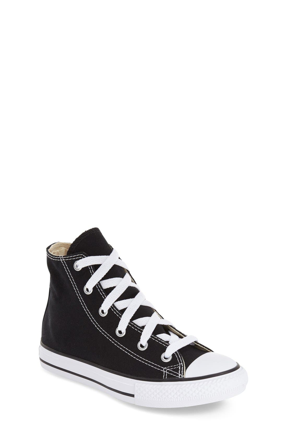 Chuck Taylor<sup>®</sup> High Top Sneaker,                         Main,                         color, Black