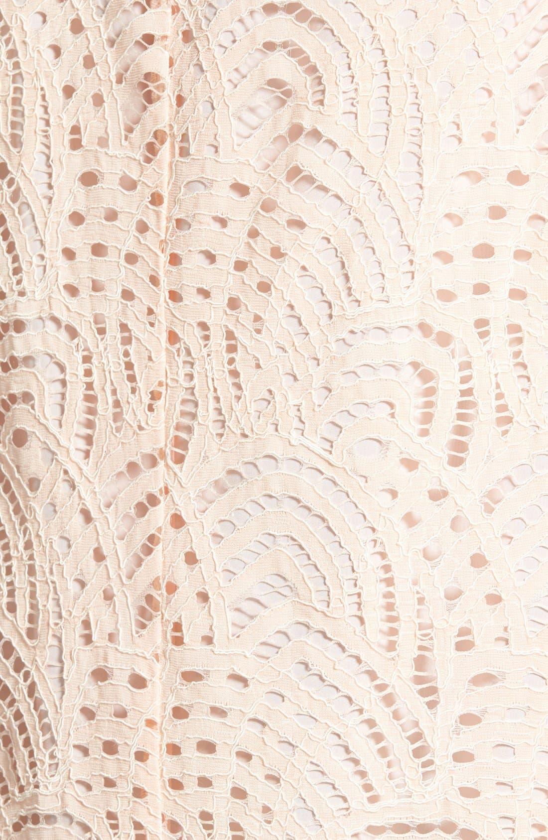 Alternate Image 5  - Halogen® Tie Neck Lace Top (Regular & Petite)