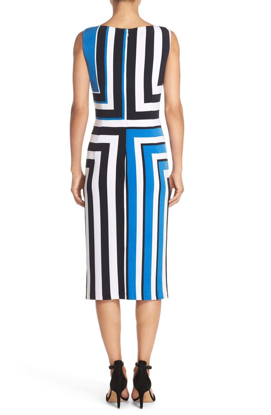 Alternate Image 2  - Maggy London Stripe Jersey Midi Dress