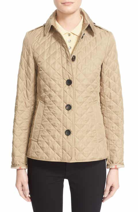 Burberry Women's Beige Outerwear: Coats & Jackets | Nordstrom : nordstrom burberry quilted jacket - Adamdwight.com