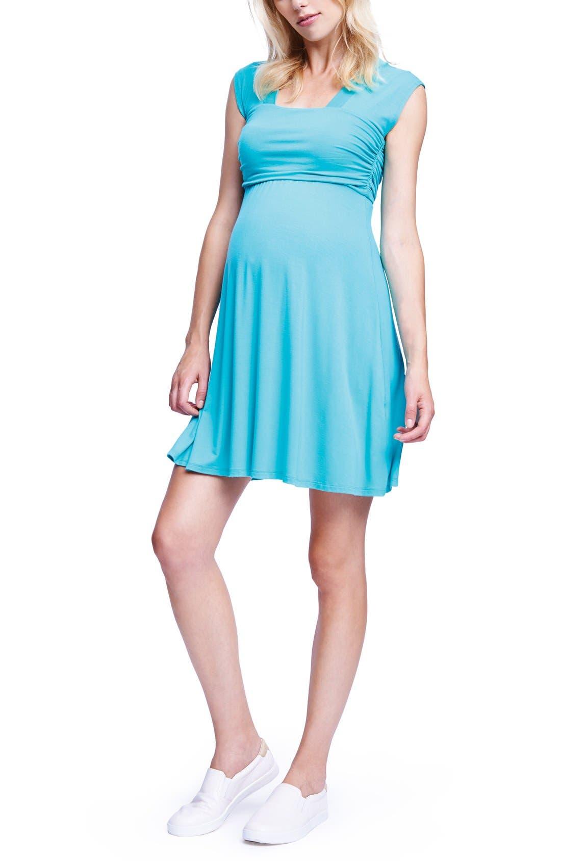 'Mini Sweetheart' Dress,                             Main thumbnail 1, color,                             Mint