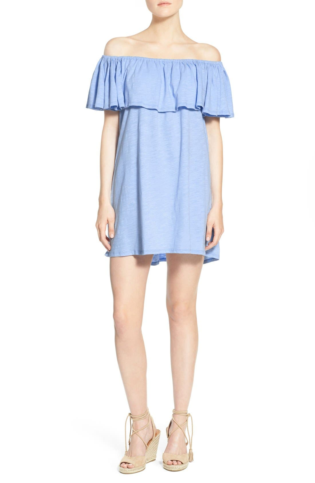 Alternate Image 1 Selected - Rebecca Minkoff 'Diosa' Cotton Off the Shoulder Dress
