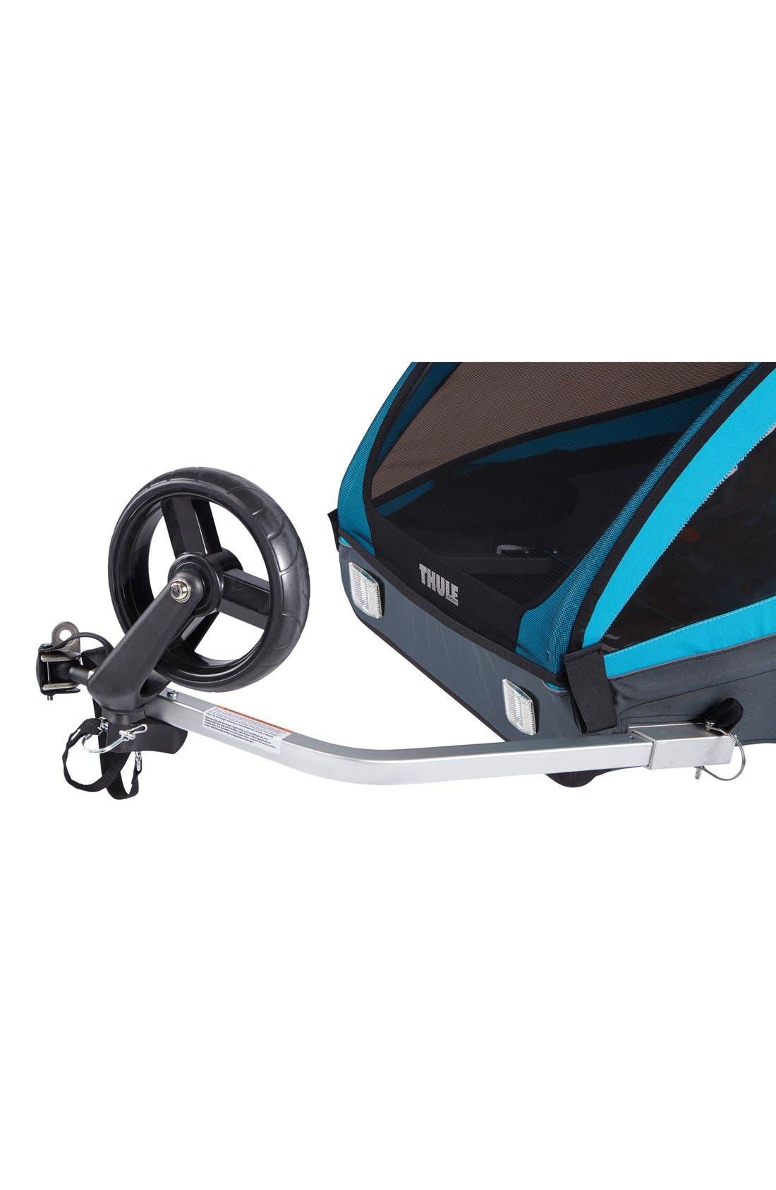 Coaster XT Double Seat Bike Trailer,                             Alternate thumbnail 8, color,                             Blue