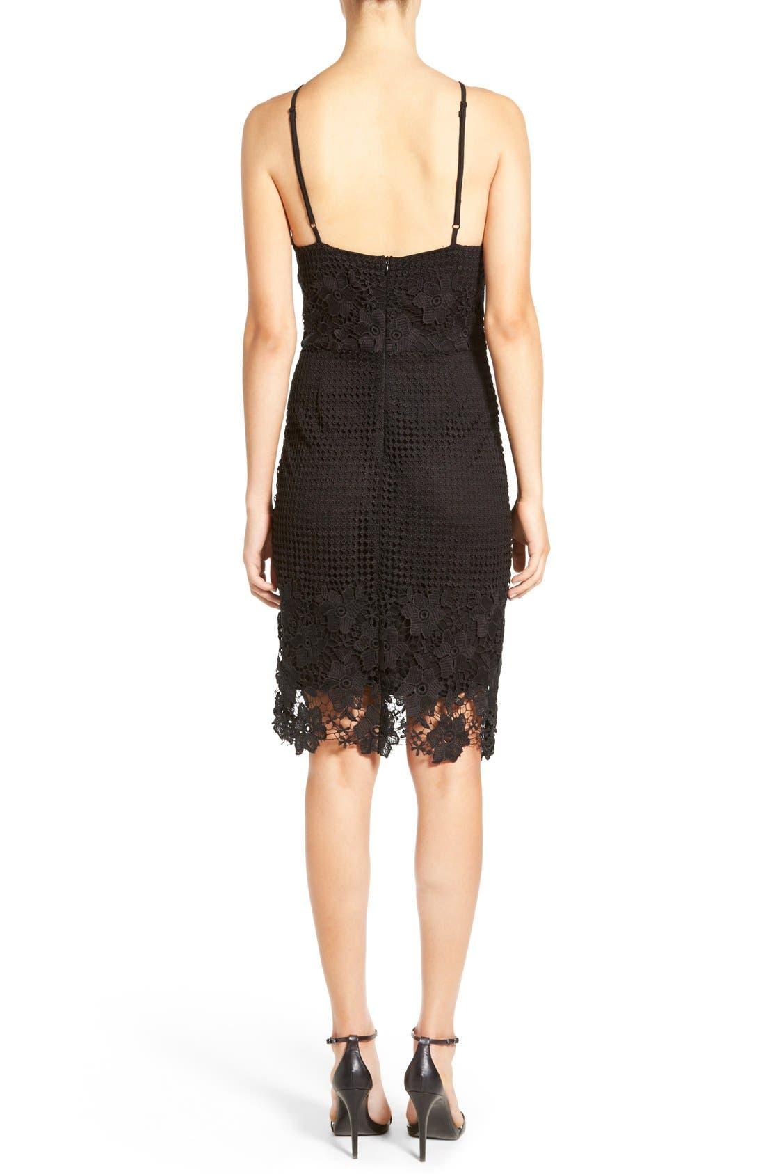 Alternate Image 2  - Willow & Clay Appliqué High Neck Midi Dress