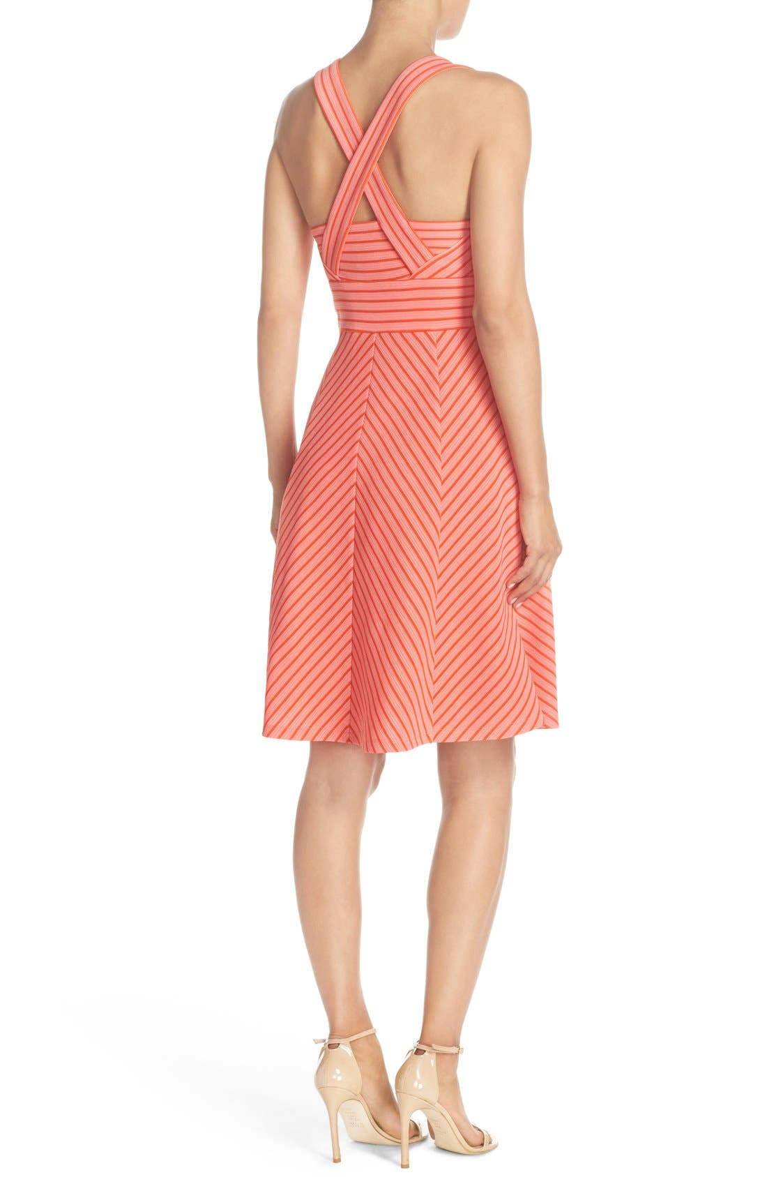 Alternate Image 2  - Adrianna Papell Stripe Ottoman Knit Sundress (Regular & Petite)