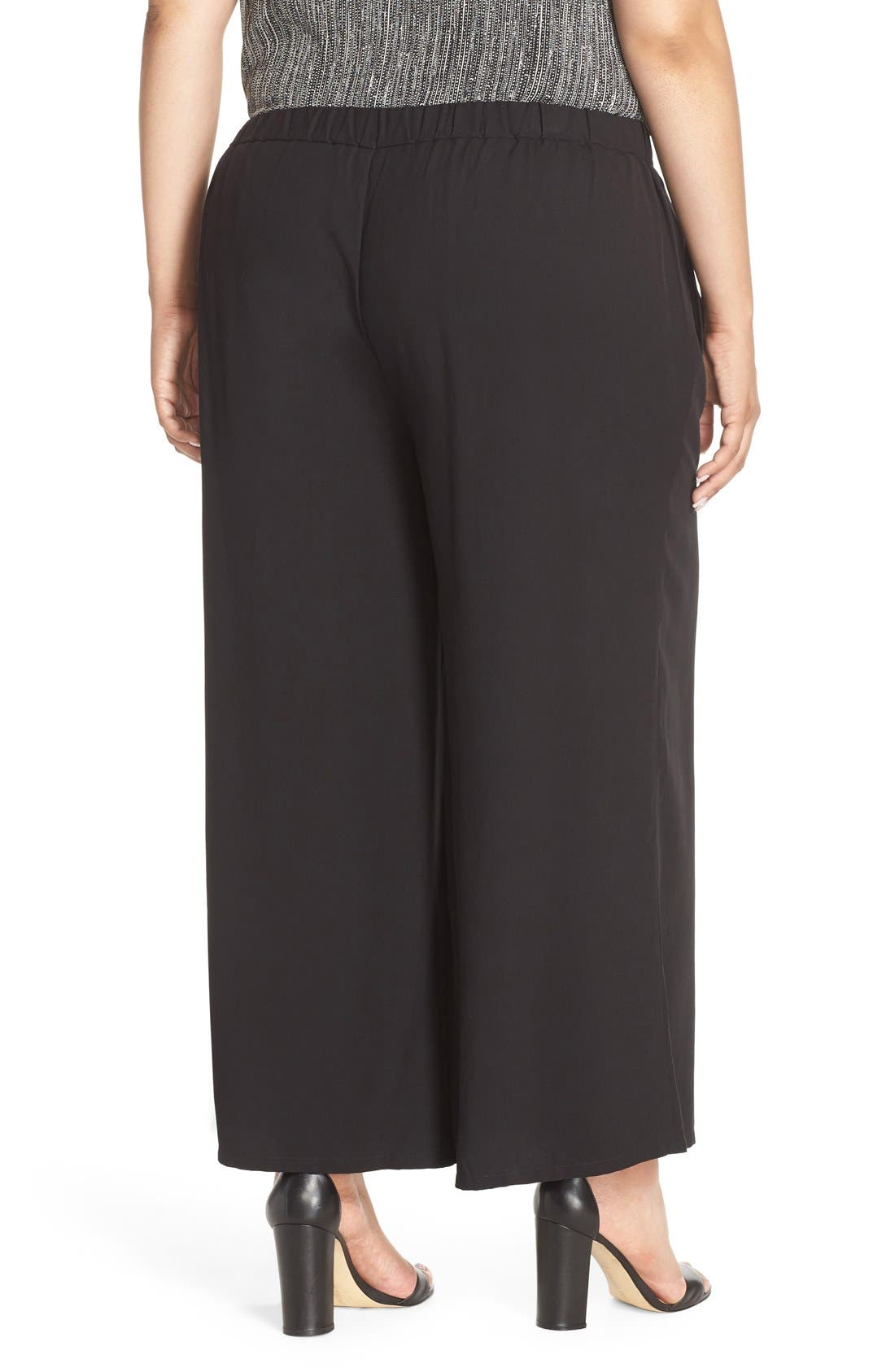 Alternate Image 2  - Eileen Fisher Wide Leg Tencel® Pants (Plus Size)