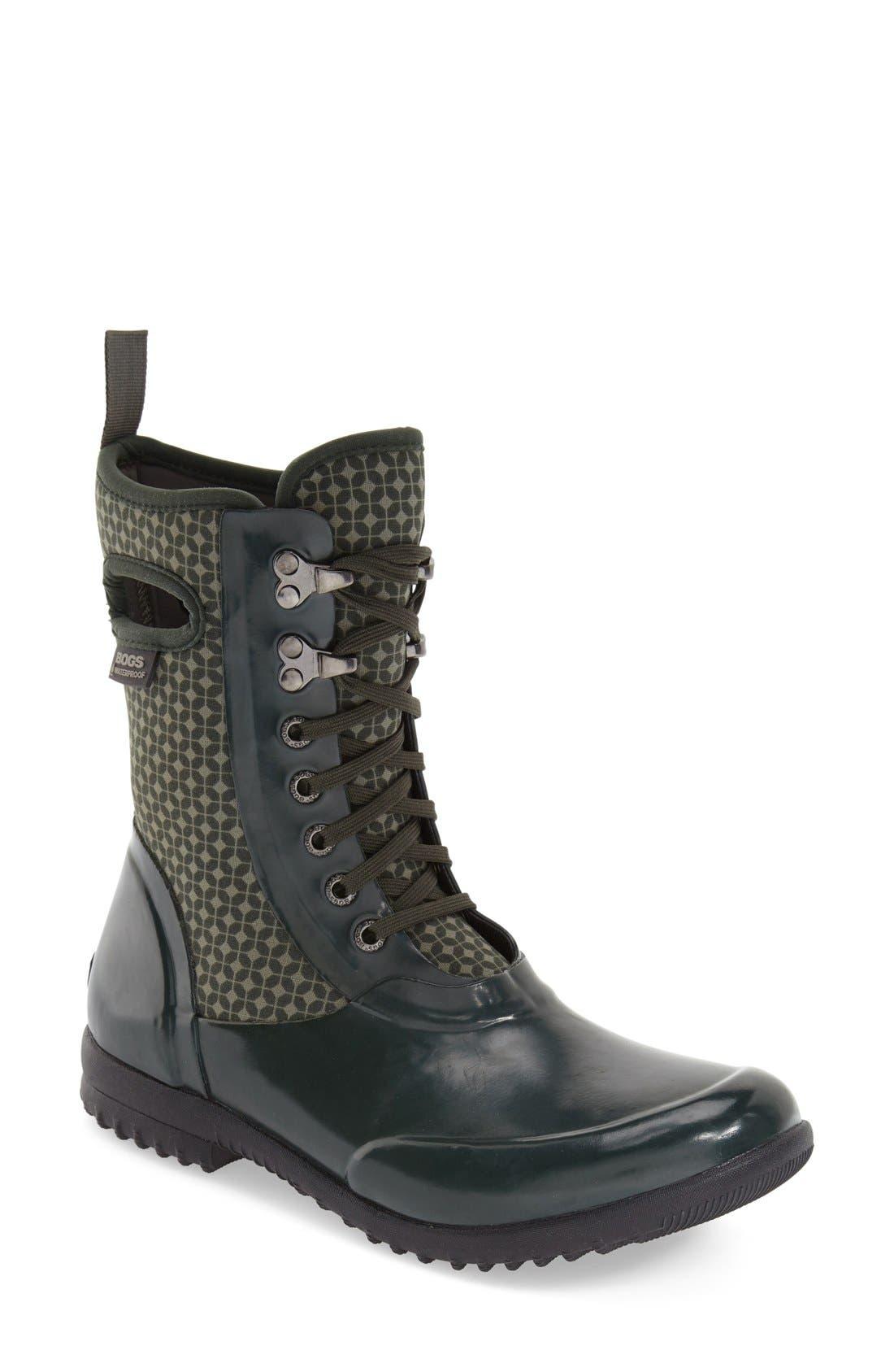 Alternate Image 1 Selected - Bogs 'Sidney Cravat' Lace-Up Waterproof Boot (Women)