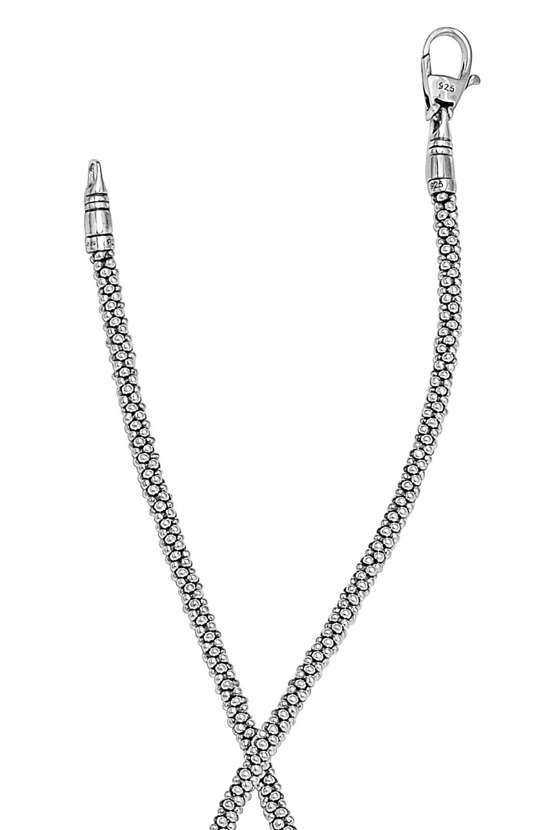 Sterling Silver Caviar 3mm Rope Necklace,                             Alternate thumbnail 2, color,                             Sterling Silver