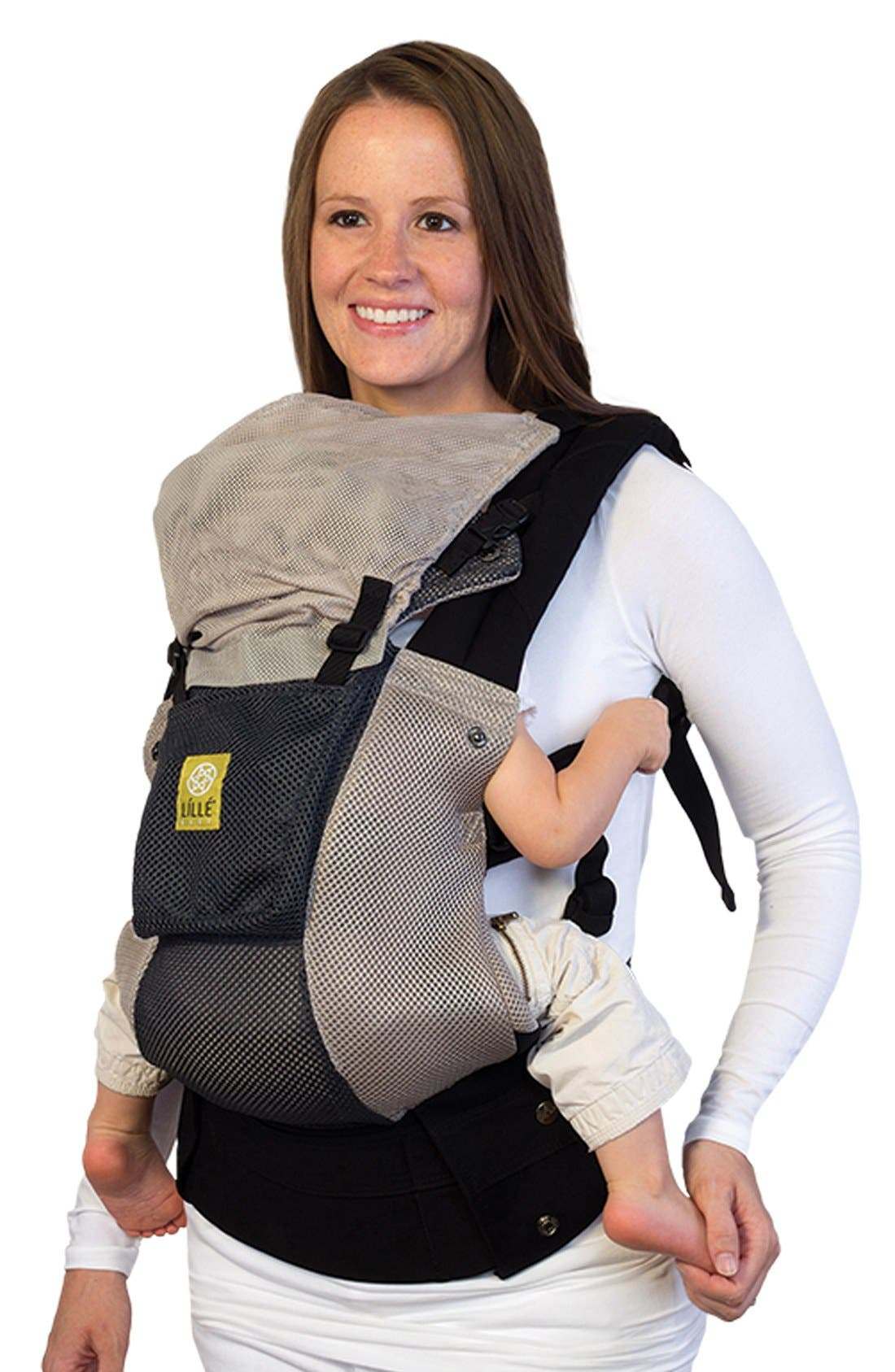 'Airflow' Baby Carrier,                             Main thumbnail 1, color,                             Grey/ Silver