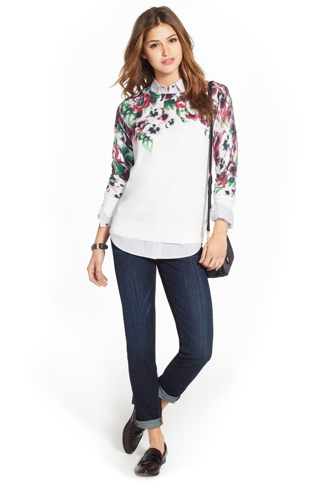 Halogen® Sweater, Sandra Shirt & Caslon® Jeans