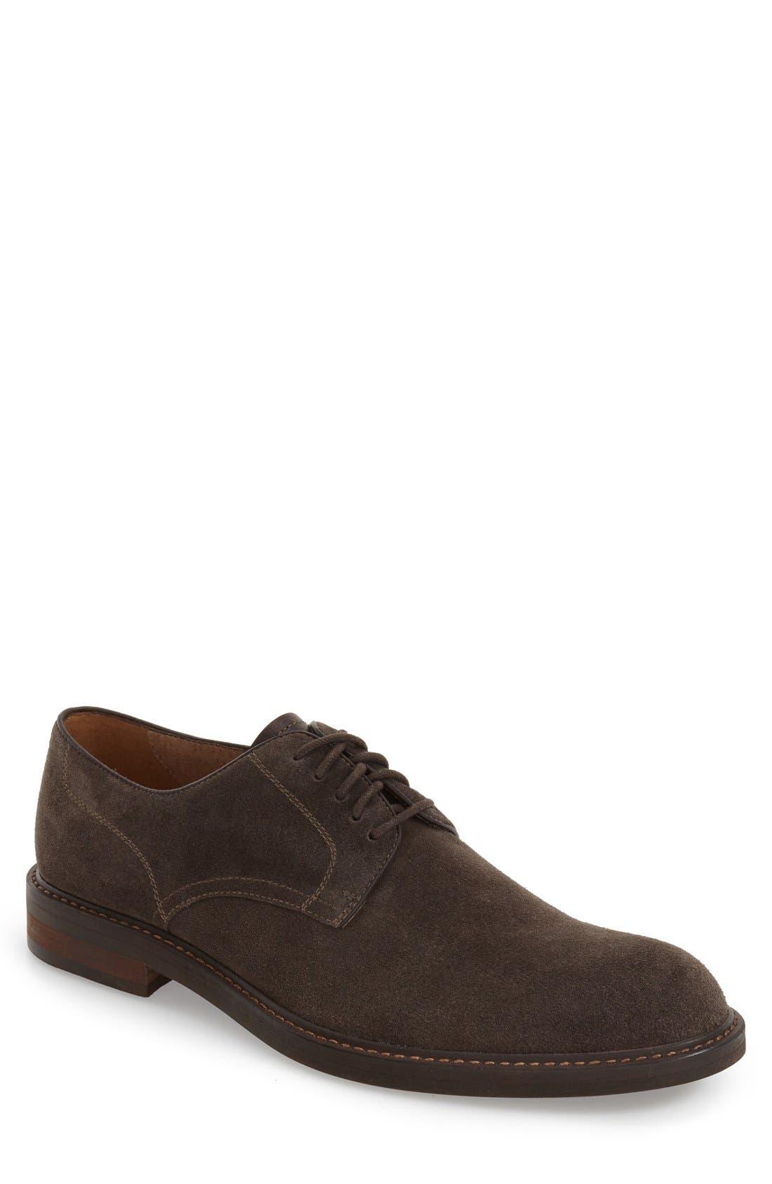 Byron Buck Shoe,                         Main,                         color, Charcoal Suede